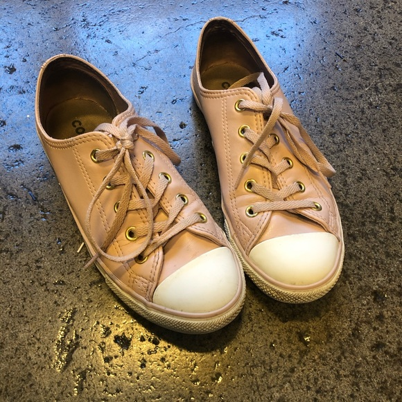 light pink leather converse
